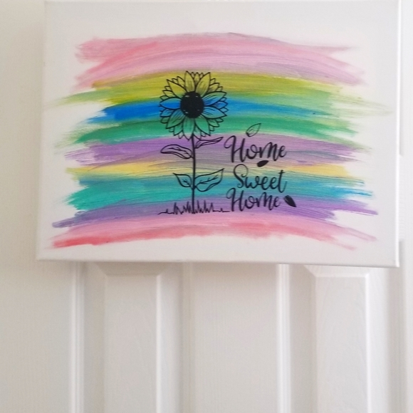 """Home sweet home"" handmade sign"